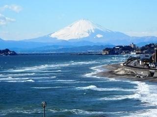 公園階段上からアップの富士山.JPG