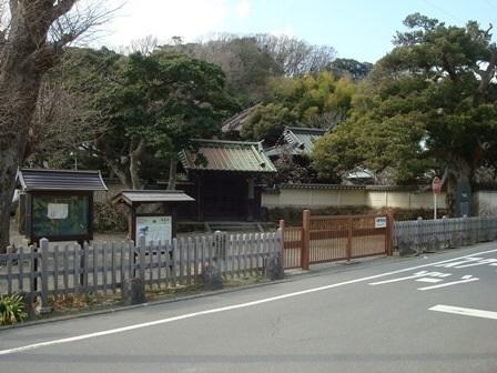 鎌倉扇ヶ谷のお寺を見る(東光山...